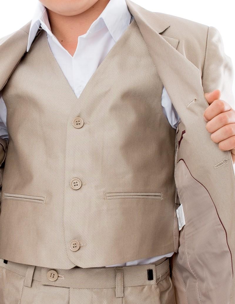 Bruidsjonker / Communie kostuum Dylano gilet beige kleurig