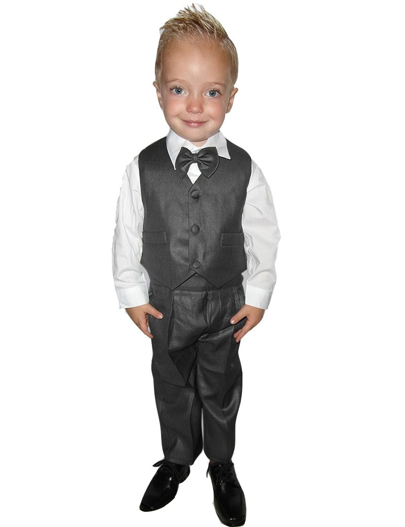 5-delig bruidsjonkers / baby kostuum Julian in de kleur donker grijs