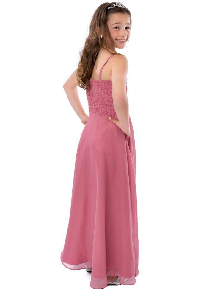 Achterkant van Galajurk Roze met elastiek stuk op de rug