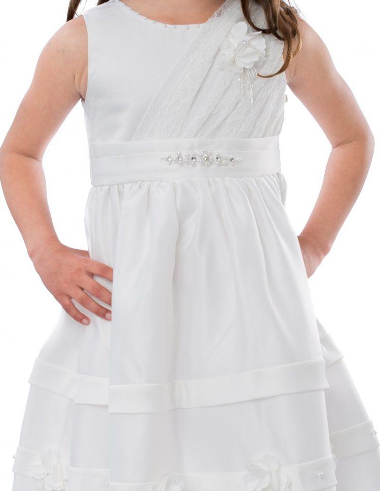 Bruidsmeisjes jurk Isabel bovenlijfje met kant en subtiel bandje met diamantjes