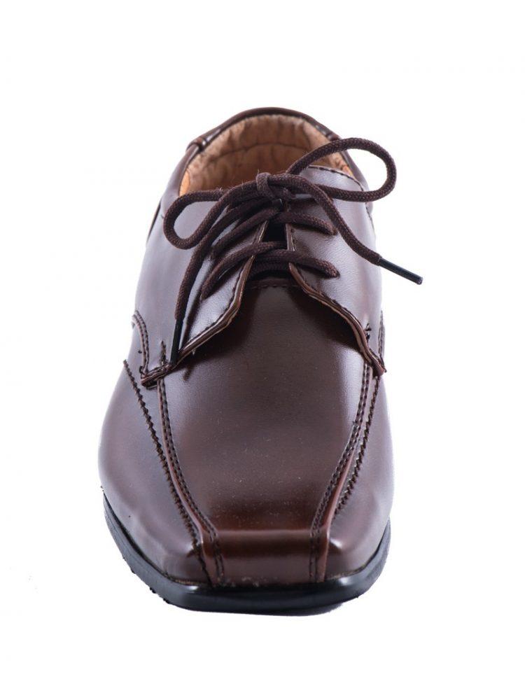 nette bruidsjonkers schoen bruin met spitse neus