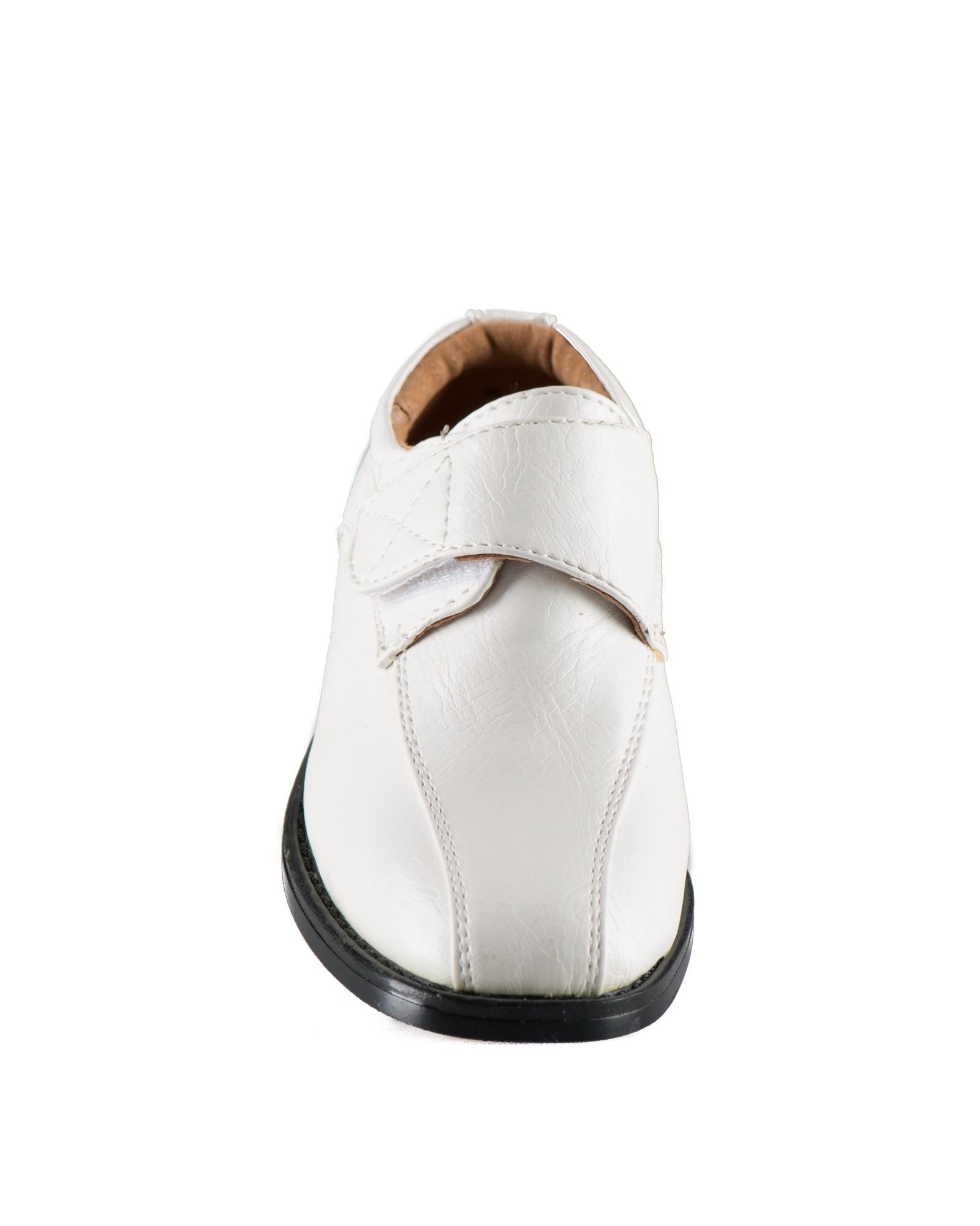 off white bruidsjonkersschoenen met klittenband