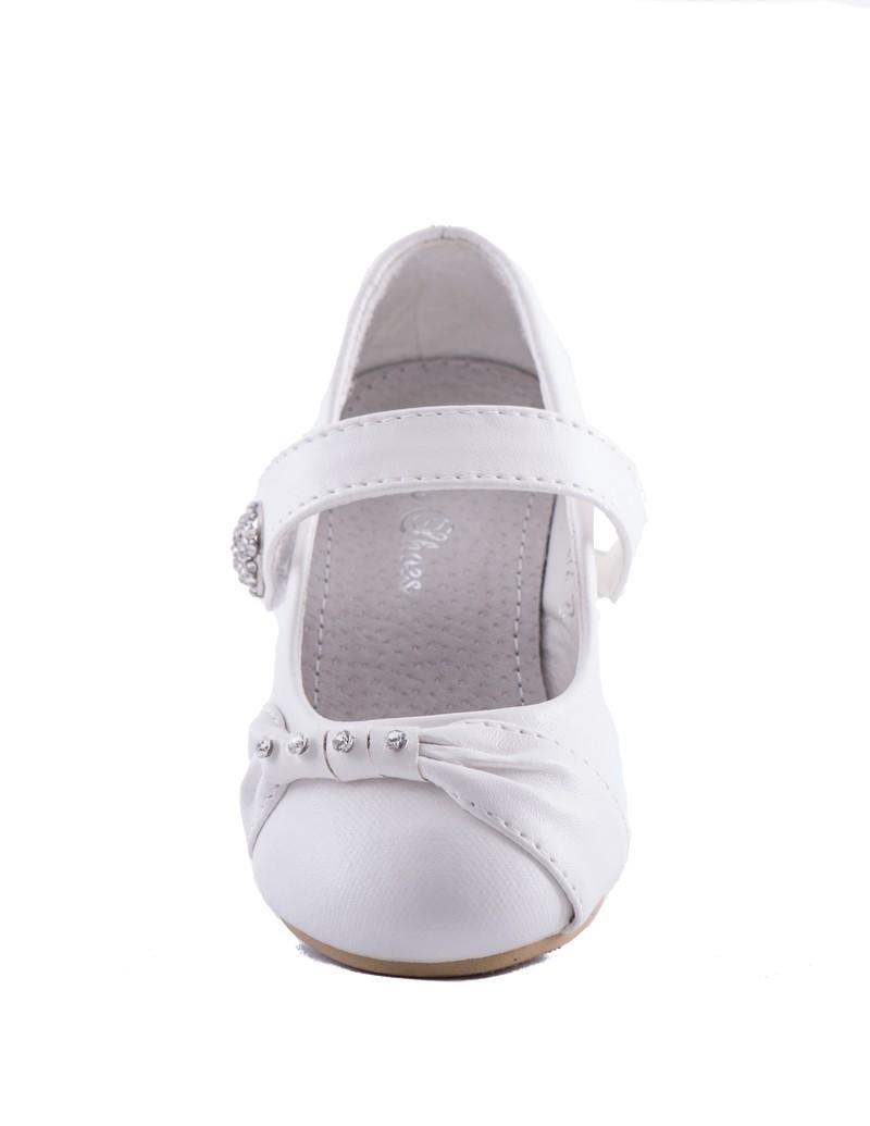 Bruidsmeisjes schoen met diamanten steentjes op de neus
