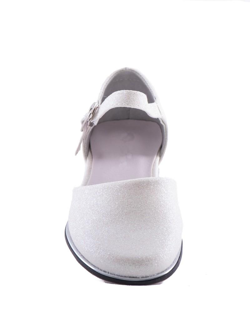 """voorkant Bruidsmeisjes schoenen """"Glitter Ivoor"""""""