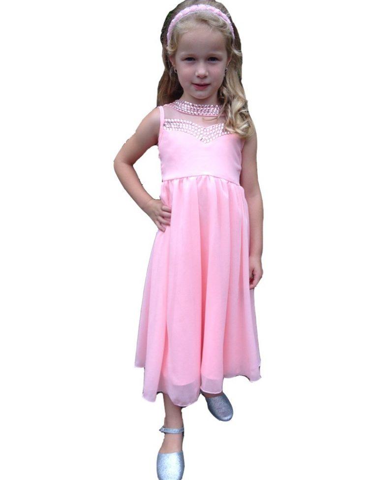 gala jurk voor kinderen in de kleur roze