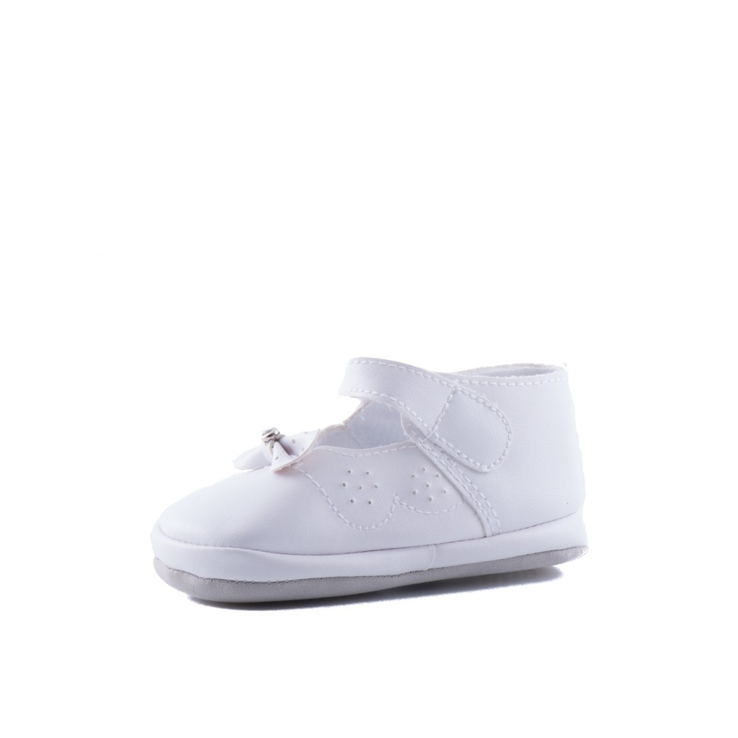 baby bruidsmeisjesschoenen strik is een schoentje van soepel vallend materiaal
