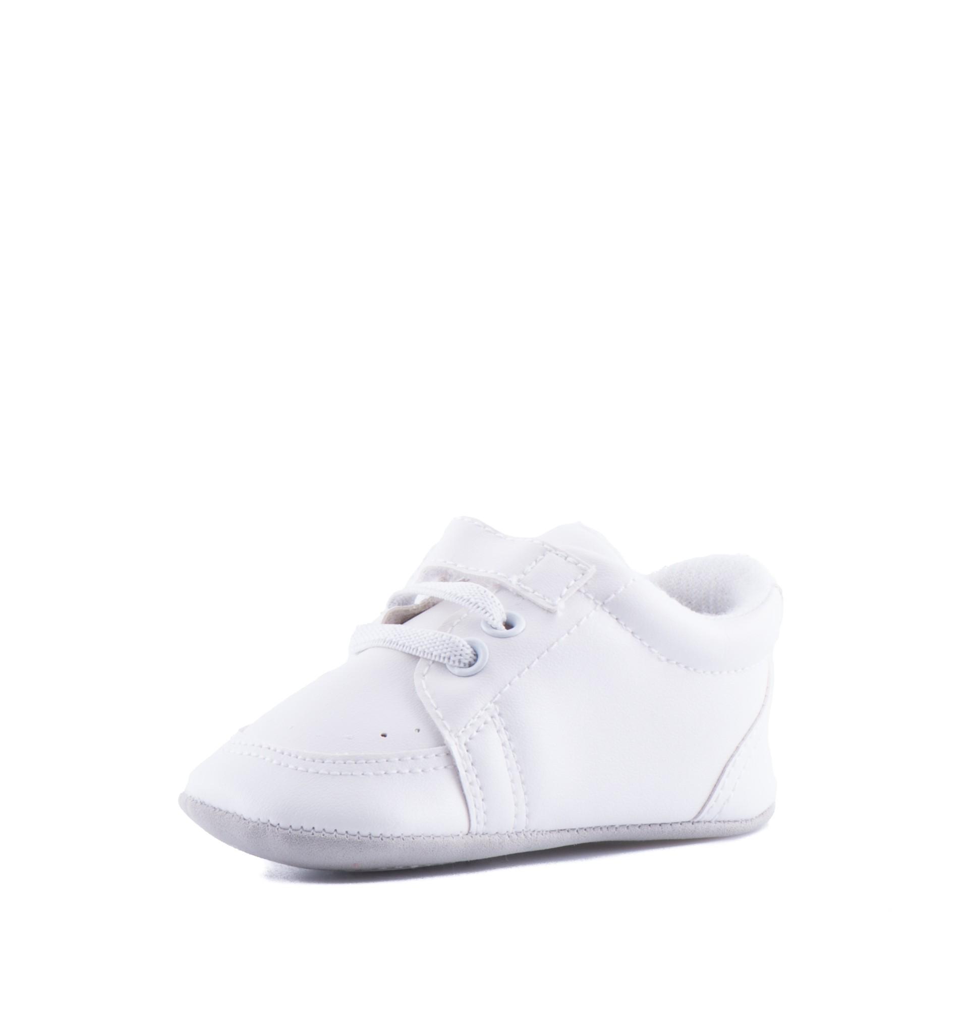 Bruidsjonkersschoenen Baby in de kleur off white met veter