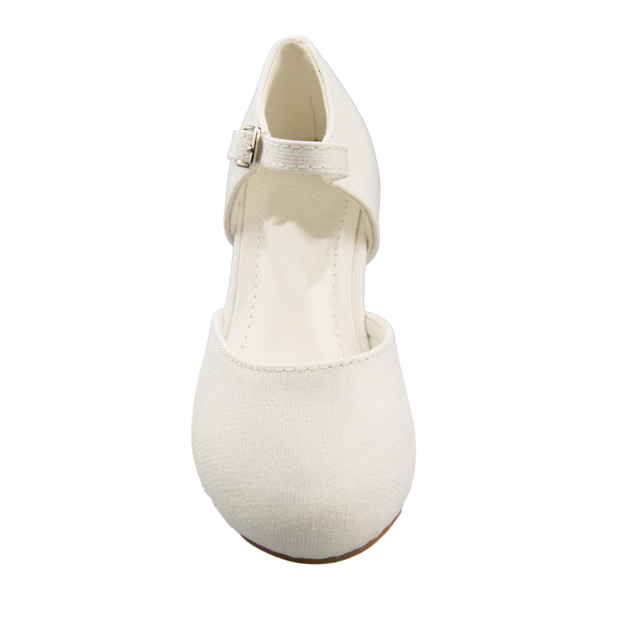 voorkant glitter schoen met bandje om de enkel