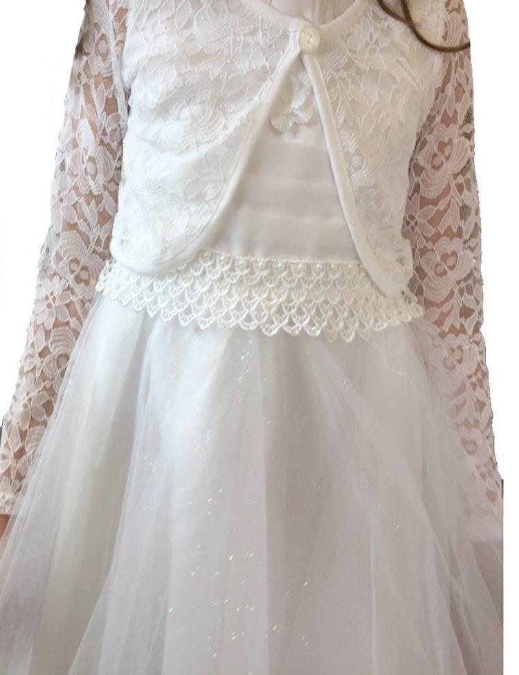 bruidsmeisjes bolero op model van doorzichtig kant