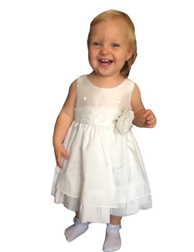 baby jurk Anna met een bloem op de middel