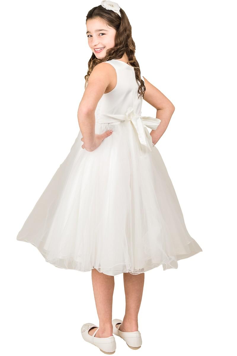 achter kant jurk rok met veel tule