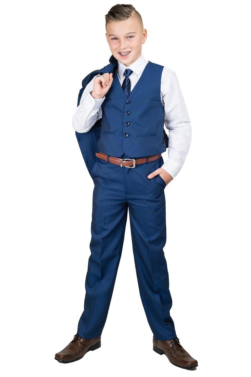 midden blauw 5-delig kinder kostuum