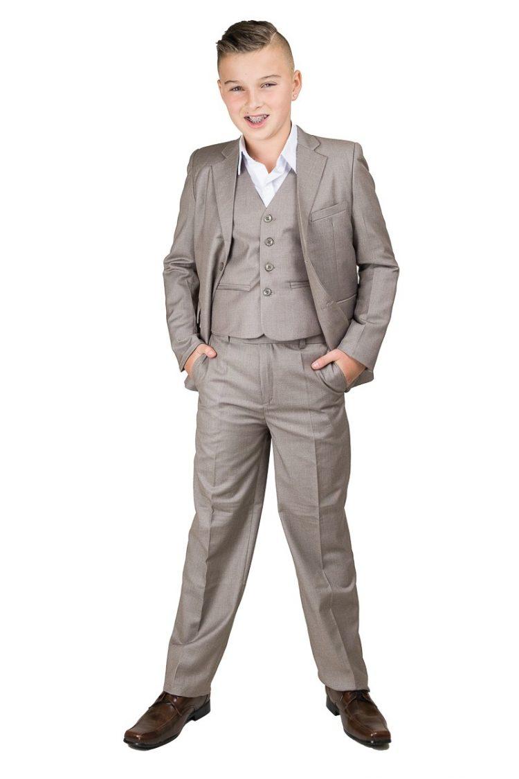 5-delig bruidsjonkers kostuum inclusief broek, gilet, jasje en wit overhemd