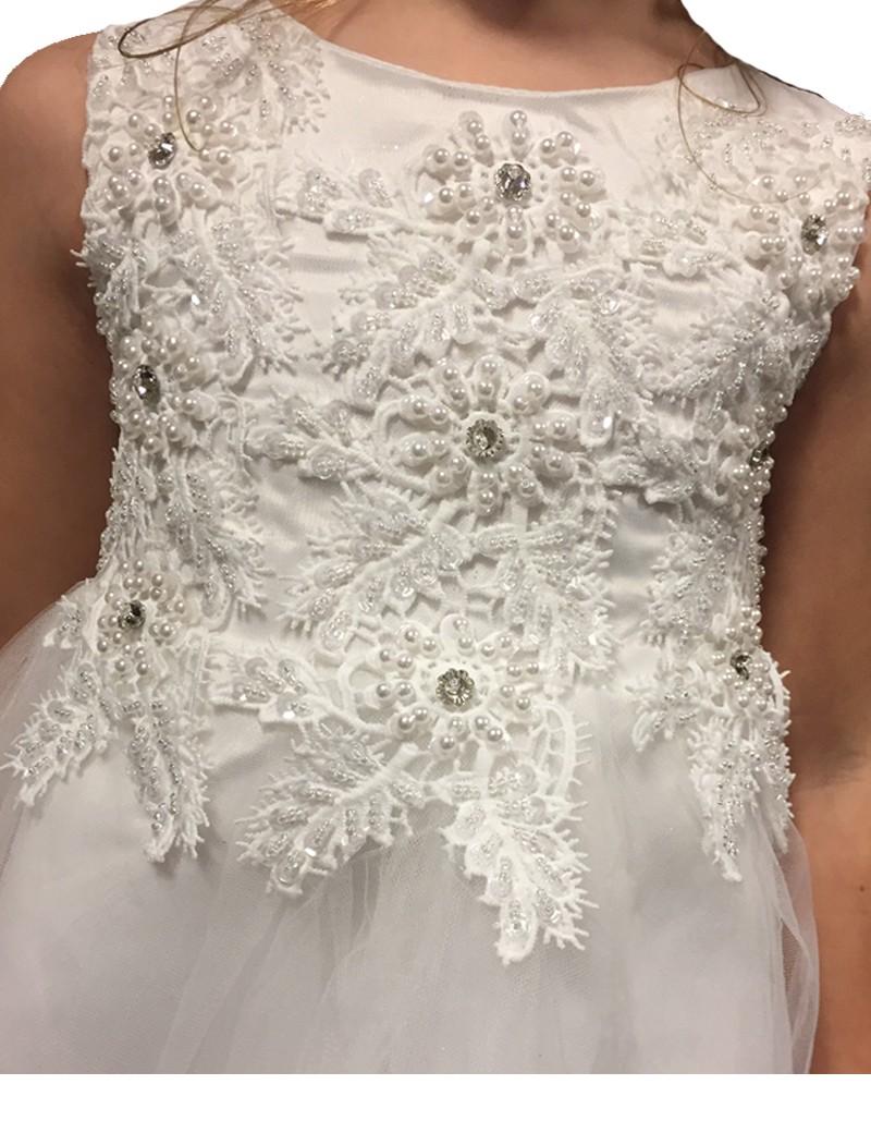 bovenlijfje jurk met veel parels en pailletten