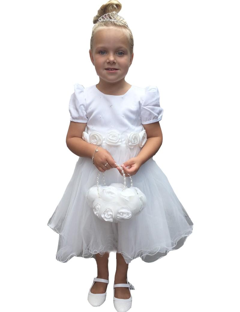 jurk voor bruidsmeisjes met een pof mouwtje