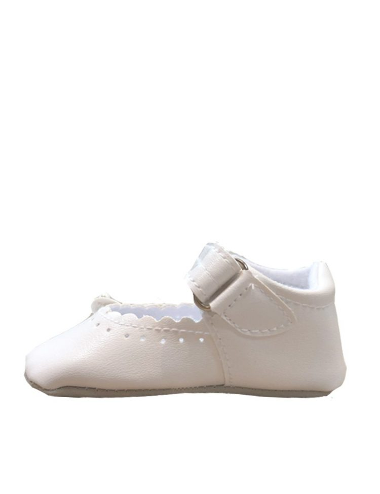 ivoor kleurig baby schoentje binnenkant